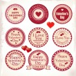 Valentines Day Labels. Vector illustration. — Vettoriali Stock