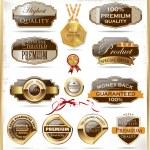 Premium quality labels — Stock Vector #26950293