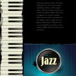 Jazz music background with piano — Vettoriale Stock #27098281