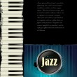 Jazz music background with piano — стоковый вектор #27098281
