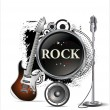 Stock Vector: Rock music background