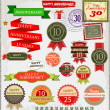 Retro style anniversary sign collection — Imagen vectorial