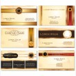 Stock Vector: Luxury business card set