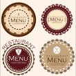 Vintage restaurant stickers — Stock Vector