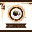 Coffee house background — Stock Vector