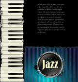 Jazz music background with piano — Stock Vector