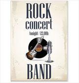 Music background - rock concert — Stock Vector