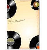 Vinyl record, music background — Vetor de Stock