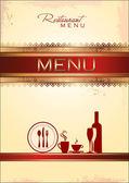 Modèle de menu or — Vecteur