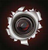 Camera lens background — Stock Vector