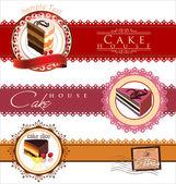 Coffee,tea and cakes menu template — Stock Vector