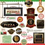 Pizza labels — Stock Vector #27103993