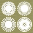 Stock Vector: Set for round lace doily
