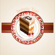 Cute delicious cake slice design — Imagen vectorial