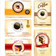 Stock Vector: Coffee,teand cakes menu or business card template