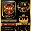 Anniversary golden label — Stock Vector
