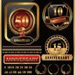Anniversary golden label — Stock Vector #27100431