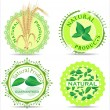 Stock Vector: Natural product label set