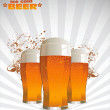 Stock Vector: Beer background