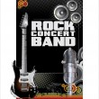 Rock concert background — Stock Vector