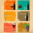 Wine card set — Stock vektor