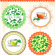 Retro Tea label vector illustration — Stock Vector #27103299