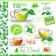 Tea elements for your design — Stock Vector