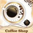 Stock Vector: Coffee shop background