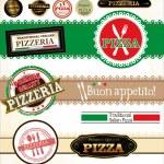 Pizza Labels — Stock Vector