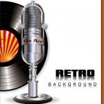 Retro music background — Stock Vector