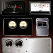 Analog VU Meter - abstract background set — Stockvectorbeeld