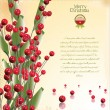 Christmas red decoration. Vector illustration — Stock Vector
