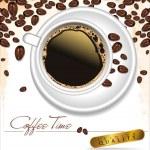 Coffee time - elegant label vector illustration — Stock Vector #27105561