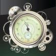 Old Watch and gears in motion — Stockvektor