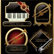 Elegant music labels — Stock Vector