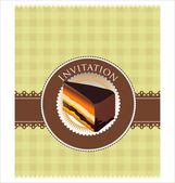 Frame with cupcake invitation template — Stock Vector