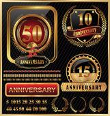 Anniversary golden label — Stock Vector