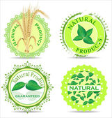 Natural product label set — Stock Vector
