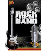 Rock concert background — Vettoriale Stock