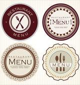 Vintage restaurant stickers — Stock Vector