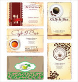Business cards for cafe and restaurant — Stock Vector