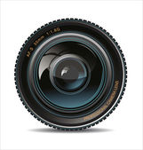 Camera photo lens — Vector de stock
