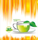 Colorful Tea background — Stock Vector