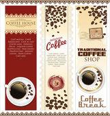 Sello de menú house café — Vector de stock