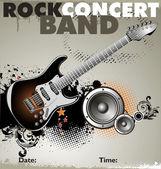 Rock-Konzert-Hintergrund — Stockvektor
