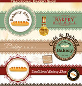 Retro Bakery Badges And Labels — Stock Vector