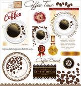 Coffee label set — Stock Vector