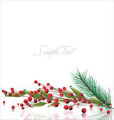 Christmas background with space for your text — Stock Vector