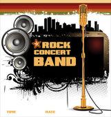 Rock music background - concert wallpaper — Stock Vector
