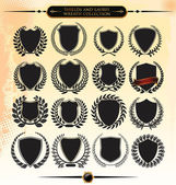 Shields and laurel wreath collection — Stock Vector